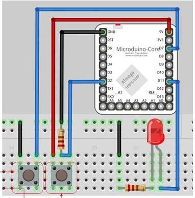 第六课——按键控制led亮度 - microduino wiki